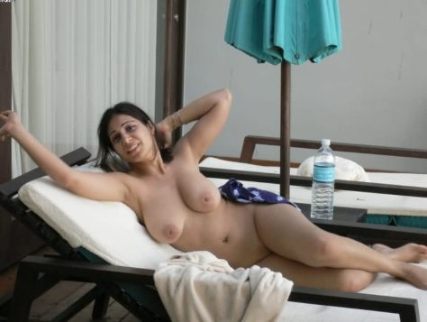 hot indian wife nude in open pool during business trip 4