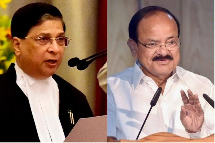 Congress' impeachment motion against CJI Dipak Misra rejected  by Venkaiah Naidu
