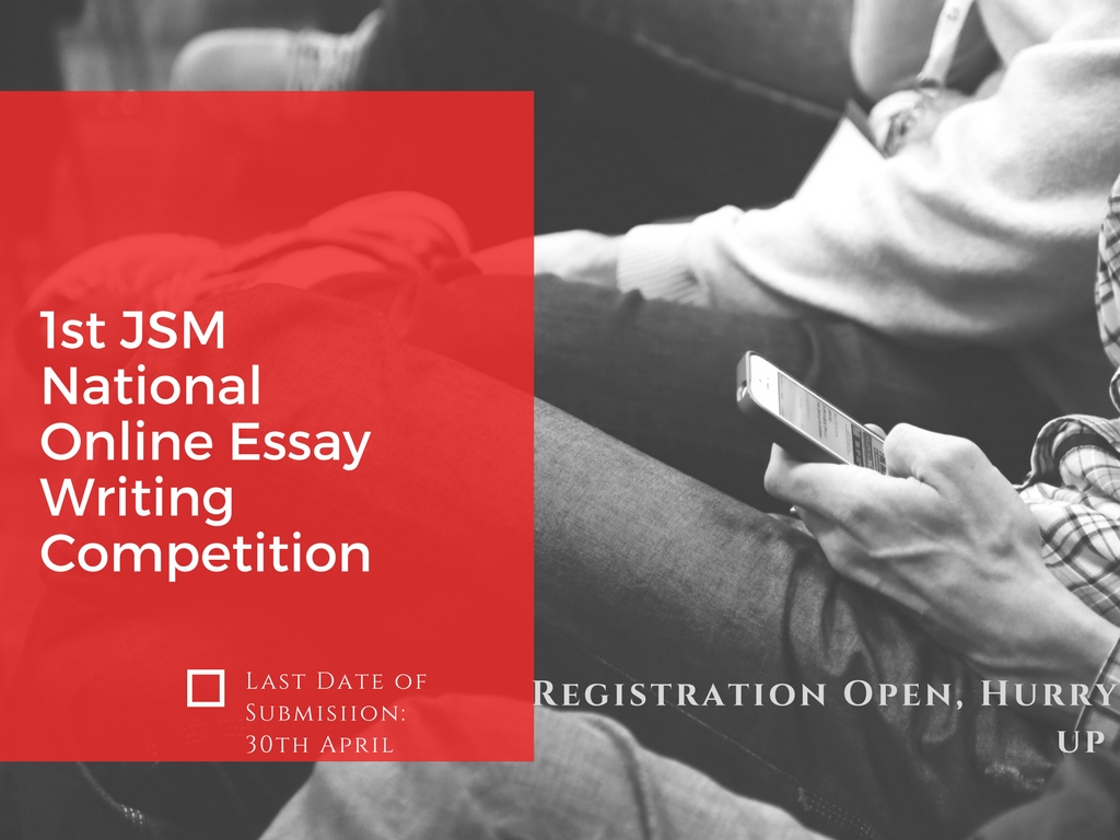 1st JSM National Online Essay Writing Competition.