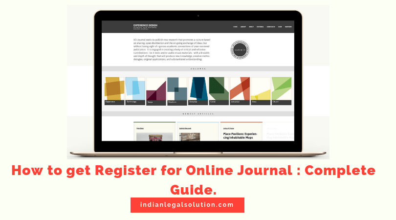 How to get Register for Online Journal : Complete Guide.