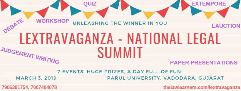 LEXTRAVAGANZA – National Legal Summit.