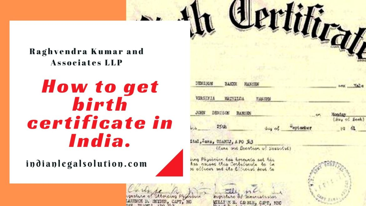 How to get birth certificate in India.