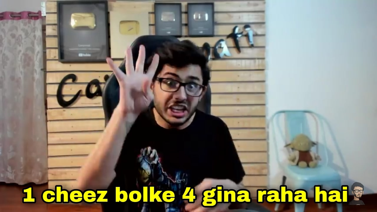 1 cheez bolke 4 gina raha hai caryminati Amir Siddiqui roast meme template