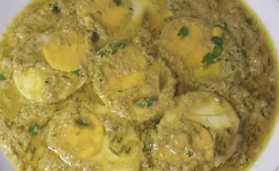 Egg malai masala recipe