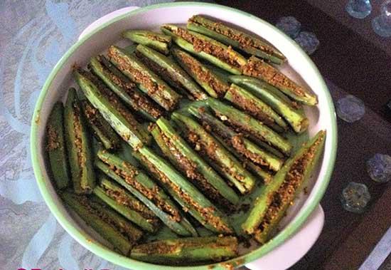 Air Fryer Kurkuri Bhindi Recipe