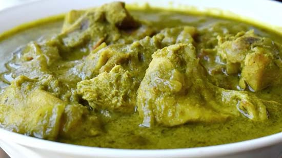 green chicken curry recipe