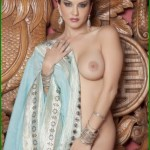 Sunny Leone takes off her saree bra and panties and showing sexy boobs and ass Bollywood actress Sunny Leone nude 18
