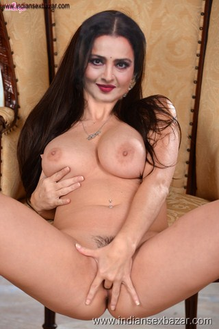 Rekha Nude Photos showing Boobs and Hairy Pussy Images Fucking Open Gand Pics XXX 35