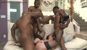 A pornstar gets three large black cocks inside her Pussy Full HD Porn FREE Download XXX00008