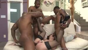 A pornstar gets three large black cocks inside her Pussy Full HD Porn FREE Download XXX00008