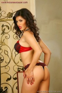 Sunny Leone Gorgeous in Red Bra and Panty Sunny Leone In Mini Bra And Underwear XXX porn pic of Sunny leone (2)