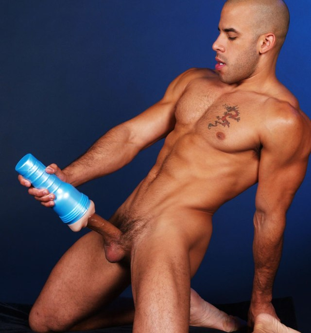 Naked Boy Doing Masturbation With Fleshlight Masturbator Sex Toy Fake Pussy 3