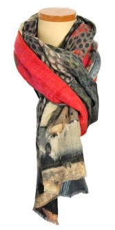 AHJ CHARLOTTE PRINT SCARF ABSTRACT R795