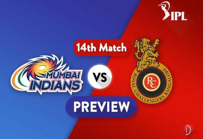 IPL 2018 MI Vs RCB Dream11 Team Prediction IPL Match 14 Prediction