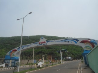 Arch on Beach Road Tenneti Beach Park Visakhapatnam