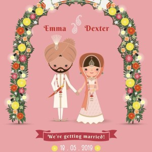 Punjabi Couple E-Wedding Card
