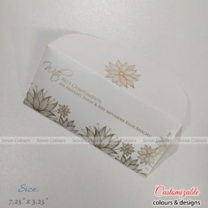 Money Envelope - White Floral