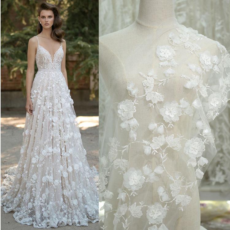 Short Dress Featuring 3D Floral Appliques