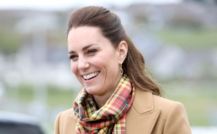 Kate Middleton Paired Her All-Camel Ensemble With a Perfectly Scottish Scarf
