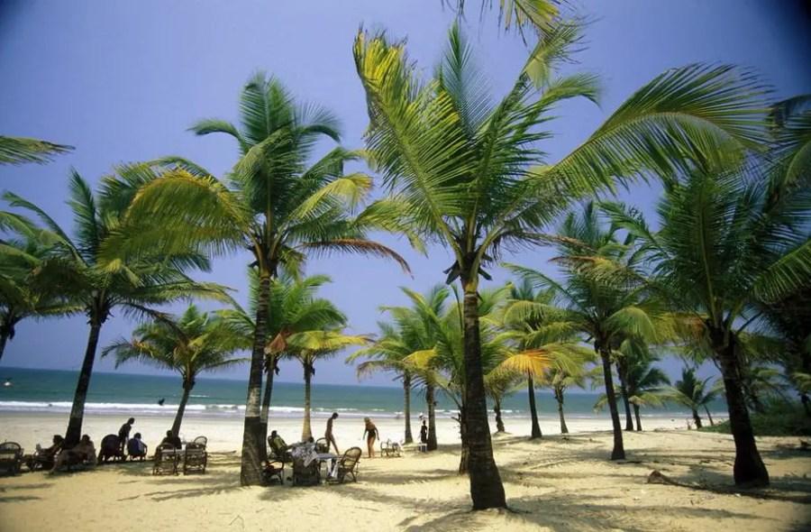 beach of Anjuna in the Province Goa in India.