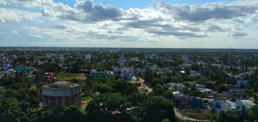 Nagapattinam lighthouse view and church