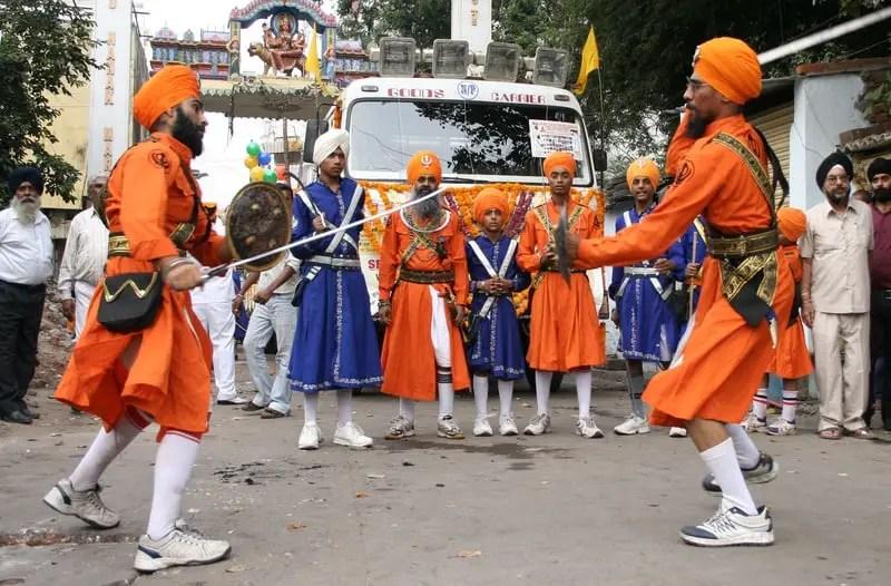 Sikhs in Nagar Keertan celebrations
