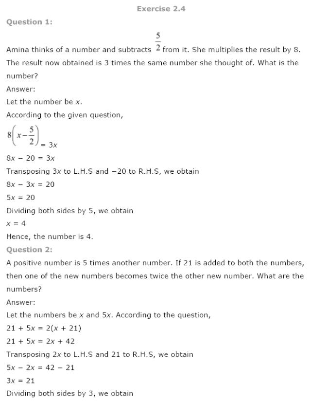 NCERT Solutions for class 8 Maths