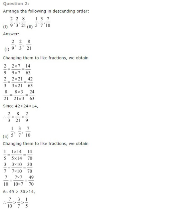 NCERT Solutions For Class 7 Maths Chapter 2 : All Questions