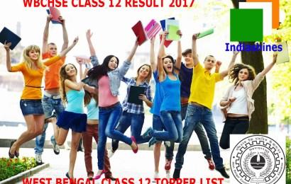WB Class 12th (Uchha Madhyamik / HS) 2017 State Topper List : Top 10