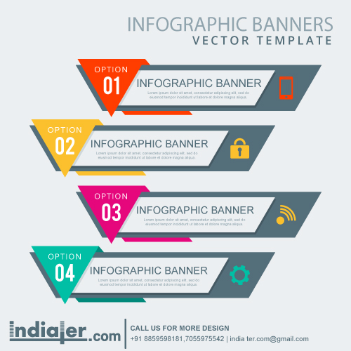 Infographic Banner Vector Template Indiater