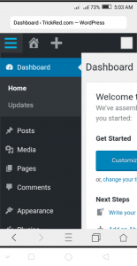 wordpress in mobile with localhost app