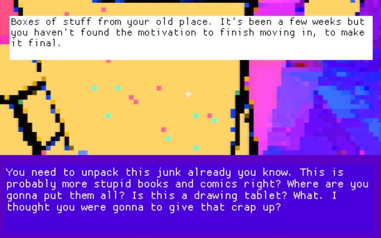 CURTAIN Screenshot - Unpacking Boxes