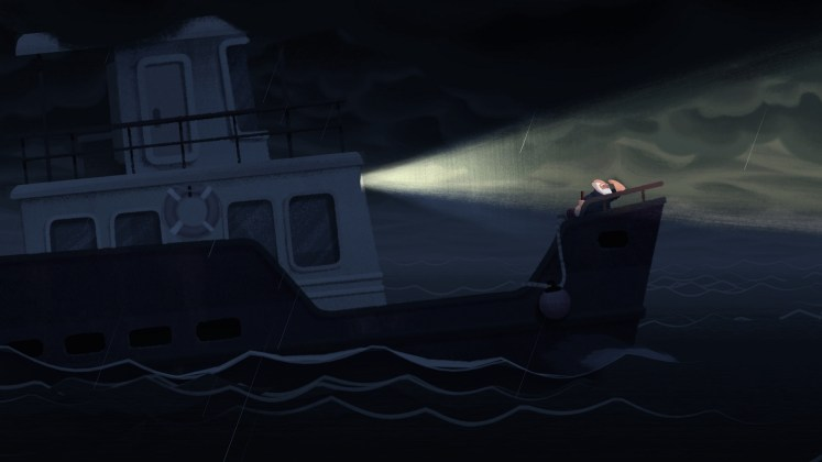 Old Man's Journey Screenshot - Stormy Waters