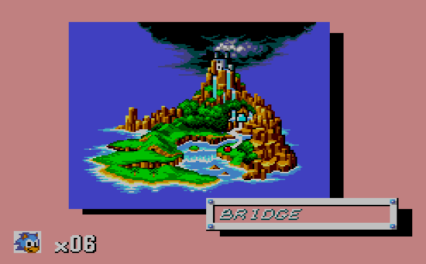 Sonic for the Master System - World Map