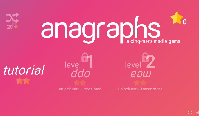 Anagraphs Opening Screen