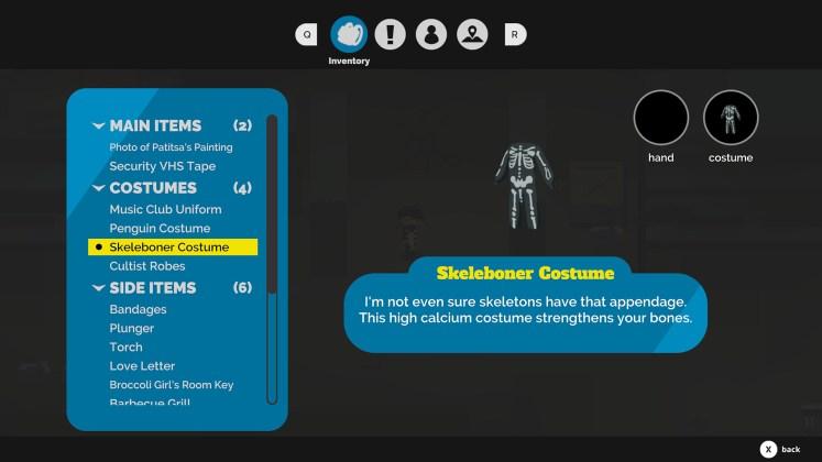 Kraken Academy Screenshot - Skeleboner Costume and Inventory