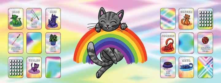 Rainbow cats banner