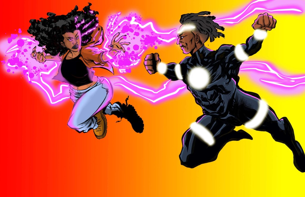indie comic news, THROWDOWN BATTLE: Blackstarr Vs Sol, The Indie Comix Dispatch