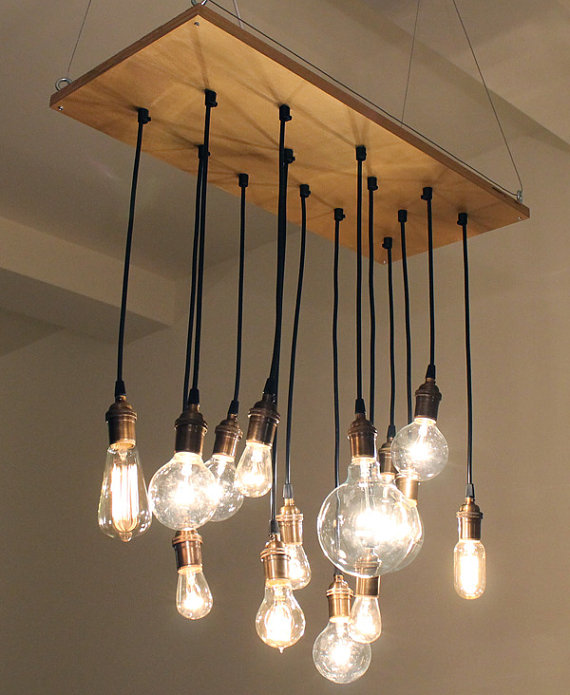 Chandeliers for your closet indie crafts for Lampe suspension ampoule