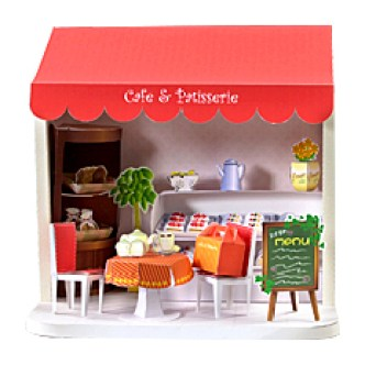 Miniature cake shop crafted entirely from paper!