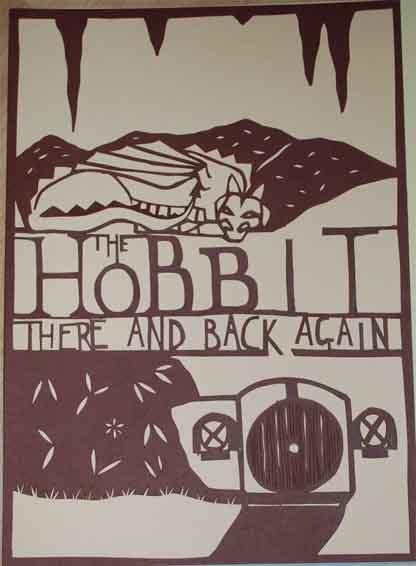 hobbit paper cut