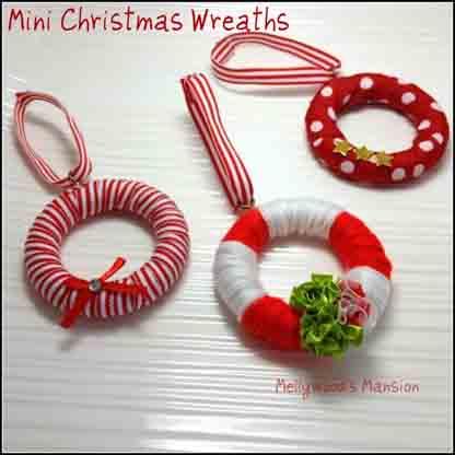 Mini Christmas Wreaths