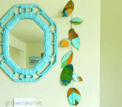 Painted fall leaf garland