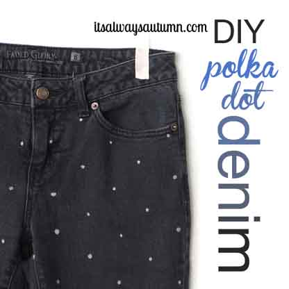 polka-dot-denim-jeans
