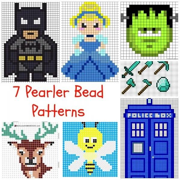 7 pearler bead patterns  u2013 indie crafts