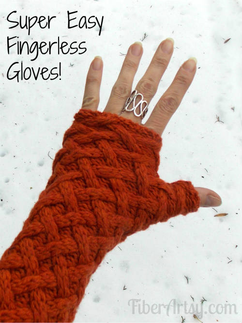 DIY Fingerless Gloves from a Sweater