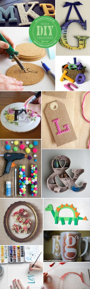 some craft ideas march diy challenge letters crafts 2971