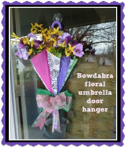 Diy Floral Umbrella Door Hanger Indie Crafts
