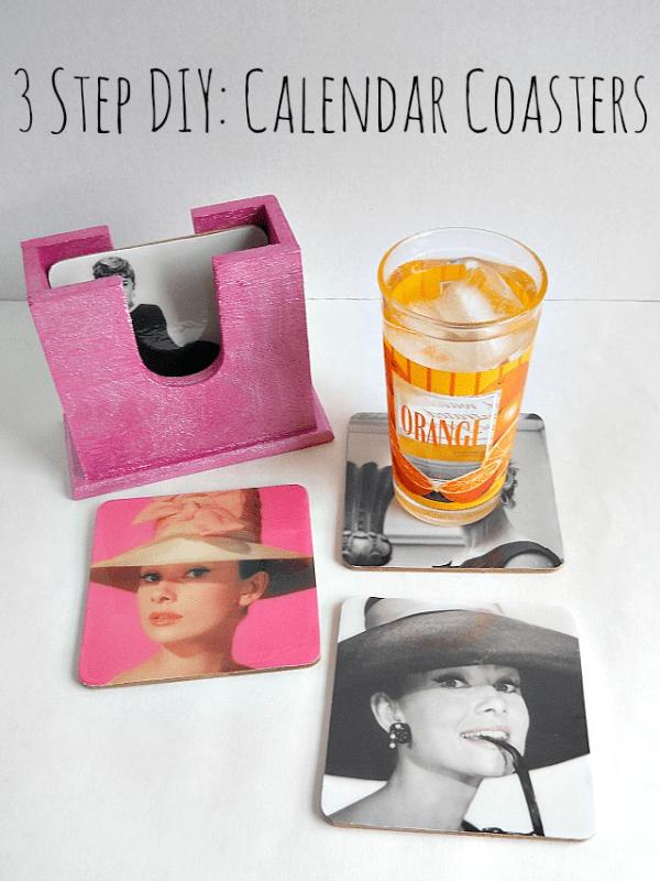 3 Step DIY Calendar Coasters