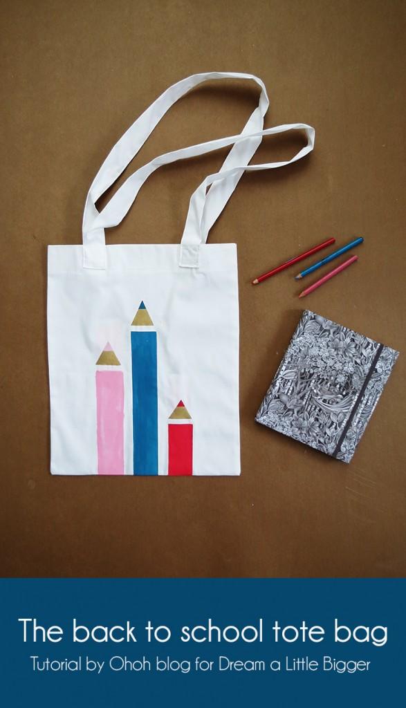 Diy Painted Back To School Tote Bag Indie Crafts